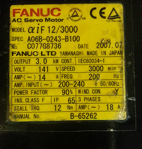 aiF 12/3000 Motor Image